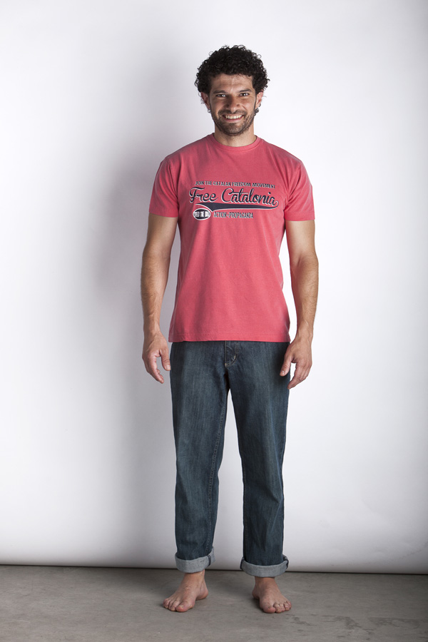 Light Red Freecatalonia Dry T-Shirt - Man T-Shirt - Color: Red - Size: S