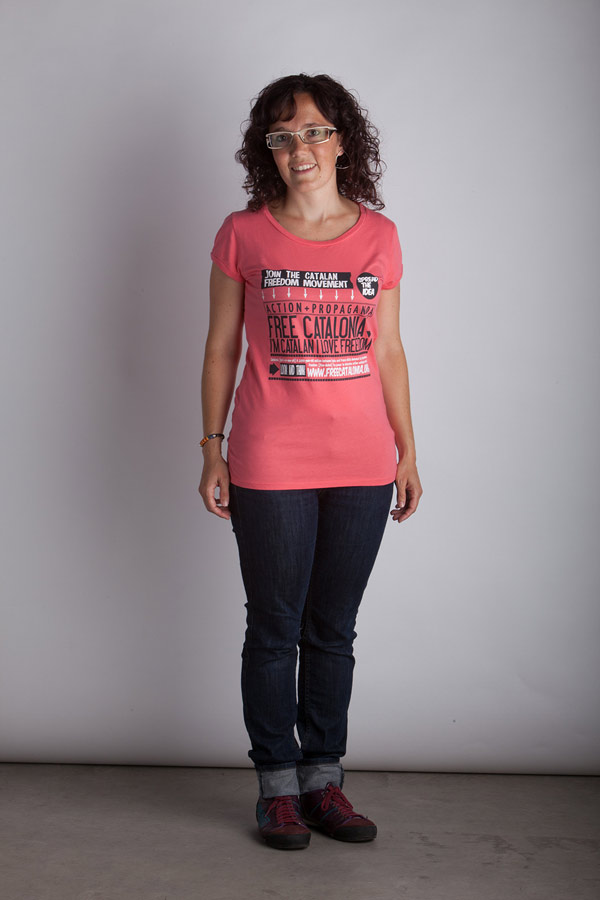 Pink Coral FreeCatalonia Arrows T-Shirt - Woman T-Shirt - Color: Pink - Size: S
