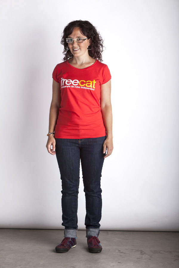 Red Freecat T-Shirt - Woman T-Shirt - Color: Red - Size: S