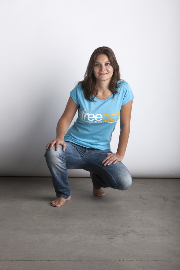 Turquoise Blue Freecat T-Shirt - Woman T-Shirt - Color: Turquoise Blue - Size: S