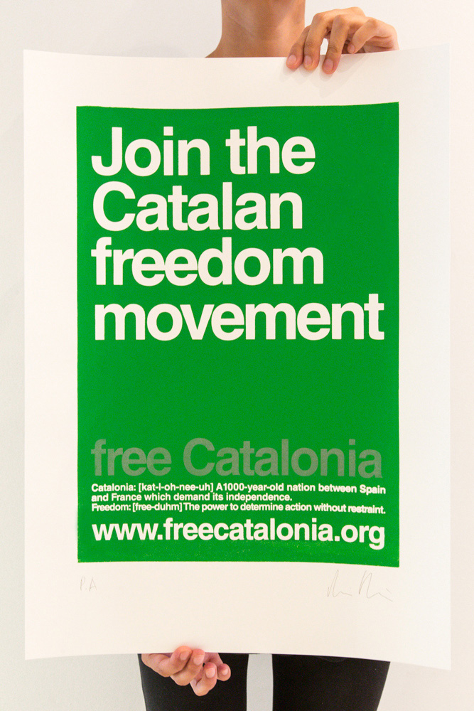 "Cartell ""Join the Catalan Freedom Movement"" - Color verd"