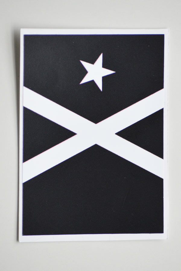 Rectangular adhesive vinyl Black Flag (8x5cm)